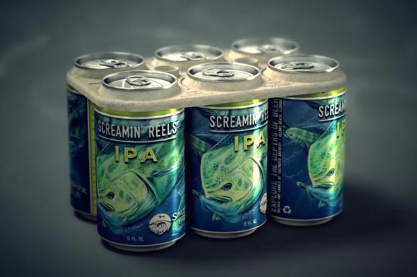 Cervecería-crea-contenedores-de-six-packs-comestibles-y-ecofriendly